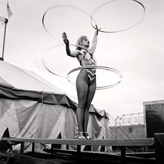 Photographs of circus performers