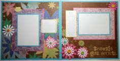 Brownie Girl Scouts 12x12 Premade Scrapbook Photo Page