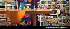 アイテム|インテリア デコレーション|Marimekko (マリメッコ) 日本公式サイト Marimekko, Interior Decorating, Autumn, Fabric, Furniture, Home Decor, Tejido, Tela, Decoration Home