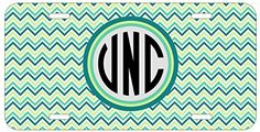 Personalized Monogrammed Chevron Teal Green Black License Plate Auto Tag Top Craft Case http://www.amazon.com/dp/B00N0254UQ/ref=cm_sw_r_pi_dp_ZJotub17X4458