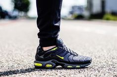 "Nike Air Max Plus ""Black, Grey & Volt"" - EU Kicks: Sneaker Magazine"