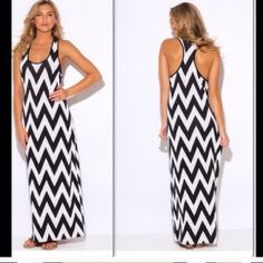 """Plus Size Chevron Beach Cover Up Maxi Dress This cute maxi is a beach essential. It has a cute racer back fitted tank design, and a trendy chevron print. Stretchy 60%polyester, 34% rayon, 6%,spandex. Unlined. The white part of the print is somewhat see through. Measures approx. 58"""" from top of shoulder to bottom. Available in 1XL. Made in the USA Made In USA Swim Coverups"""