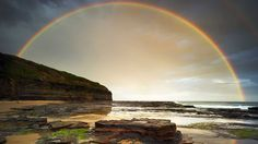 From the Australian Weather Calendar 2012 . January: Double rainbow over Wombarra beach, New South Wales. South Wales, Weather Calendar, Weather And Climate, Somewhere Over, Over The Rainbow, Australia Travel, The Good Place, Around The Worlds, The Incredibles