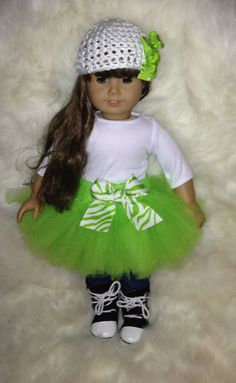 American Girl Doll - Light Green