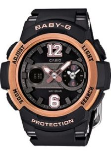 2 Year Australian Warranty Free Express Post  ​Delivery 1 - 5 days Matt black with luxurious rose gold bezel.   BGA210-1B BABY-G WORLD TIME SERIES  The big numbers are 12 and 6 o'clock of these new additions to the sporty BGA210 Series are designed to resemble the jersey numbers on sports uniforms.  Dual Dial World time shows the current time in two cities simultaneously. The main hands and the dial at 3 o'clock show both your Home Time and a time in another zone. The two times can be swa...