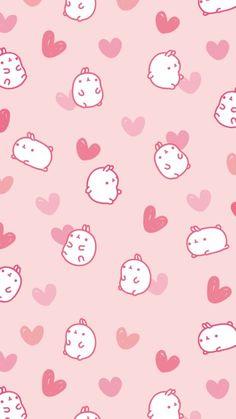 Cute, pink, and wallpaper image wallpaper pink cute, kawaii wallpaper, pattern wallpaper Cute Wallpapers For Ipad, Cute Wallpapers Quotes, Cute Wallpaper Backgrounds, Mobile Wallpaper, Iphone Wallpapers, Wallpaper Ideas, Wallpaper Shops, Wallpaper Pink Cute, Rabbit Wallpaper