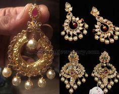 Pachi Work Peacock Chandbalis - Jewellery Designs
