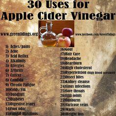 Apple Cider Vinegar ... so many uses