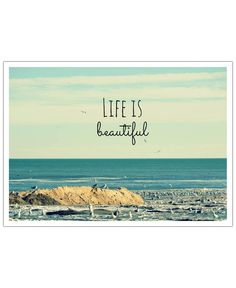Life is Beautiful VON Robin Delean now on JUNIQE!