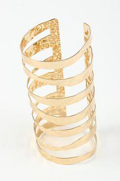 Textured Cutout Cuff Bracelet