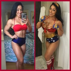 || @stephrowefit is Wonder Woman! She made this outfit herself and she looks dynamite in it! || ・・・ #fbf to last week when I created my #wonderwoman costume for @edc_lasvegas  I have gotten a lot of inquiries about purchasing one, or using it for a photoshoot, etc. Email me at stephanierodriguez73@gmail.com serious inquiries only. @dccomics @dccomicsunited #dccomics #comiccon #transformation @glovegirl #glovegirl #liftandlove #workout #fitfam #girlswithmuscle #girlswholift