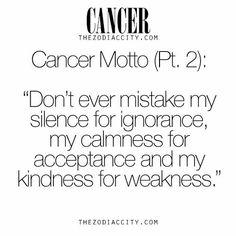 Cancer motto