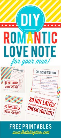 DIY Romantic Love Notes from The Dating Divas!