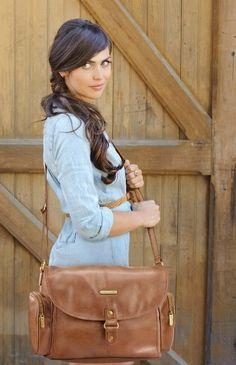 Timi & Leslie Metro Messenger Barcelona Diaper Bag - Tan/Brown #timilesliediaperbag
