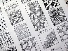 Zentangle-Pattern Samples