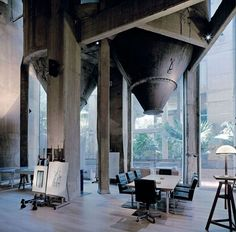 Fabulous Barcelona home in an old concrete factory, industrial and Romanesque by architect Ricardo Bofill