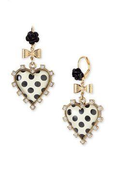 Super cute earrings Betsy Johnson