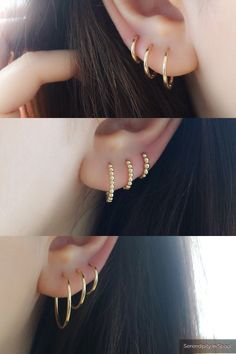 Trending Ear Piercing ideas for women. Ear Piercing Ideas and Piercing Unique Ear. Ear piercings can make you look totally different from the rest. Bar Stud Earrings, Silver Hoop Earrings, Crystal Earrings, Crystal Jewelry, Circle Earrings, Copper Jewelry, Pearl Jewelry, Statement Earrings, Silver Ring