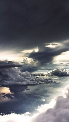 The Sky from an Airplane #iphone #wallpaper