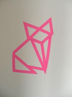 cat origami masking tape
