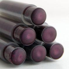 Goth Plum Lipstick . MORTICIA Mineral Lipstick . Dark Purple Lipstick.  via Etsy.