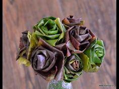 Ružičky z lístia | DIY nápady a návody ako vyrobiť ruže z opadaných listov