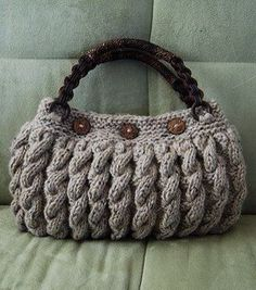"Crochet handbags 459156124493602338 - ""Bolso crochet"" There isn't a link for this bag but I like it and thought the image might inspire something in the same manner. S Source by aapolloni Crochet Handbags, Crochet Purses, Crochet Bags, Hand Knit Bag, Handmade Purses, Knitting Accessories, Casual Bags, Knitted Bags, Clutch Bag"