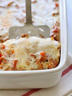 I can't say enough good things about this macaroni and turkey casserole! It's comforting, kid-friendly and so easy to make because there's no need to pre-cook the pasta!
