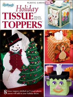 Plastic Canvas - e-Books - Tissue Topper Patterns - Holiday Tissue Toppers