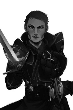 """disturbuniverse:  I had the great pleasure of getting a commissioned work done by siriusdraws! I wanted something along the lines of """"Cassandra looking so overjoyed that she gets to fight you"""" and it looks AMAZING. Thank you so much, Sirius!! It was wonderful working with you!"""