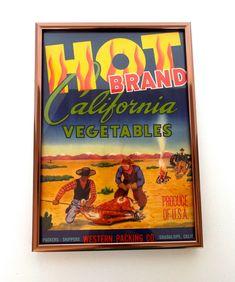 *AN ORIGINAL LABEL* BARNSTORMER Vintage Grape Crate Label plane chicken Barn