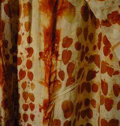 India Fllint; eucalyptus dyeing