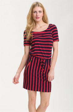 Calvin Klein Zip Pocket Stripe Jersey Dress available at Nordstrom