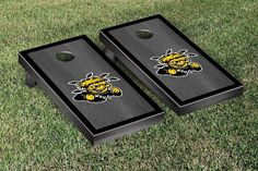 Wichita State Shockers Gray Onyx w/ Border Stripe Cornhole Set