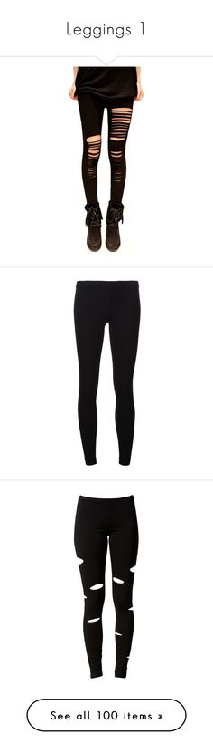 """""""Leggings 1"""" by dutchveertje ❤ liked on Polyvore featuring pants, leggings, bottoms, jeans, tights, ripped pants, vintage leggings, ripped leggings, vintage trousers and torn leggings"""