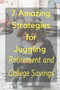 Is it even possible to manage both Retirement and College Savings at the same time? As daunting as it may seem, it may be easier than you think. Saving For College, College Fun, Retirement Planning, Financial Planning, Make Money Online, How To Make Money, College Savings, What Is Work, Get Out Of Debt