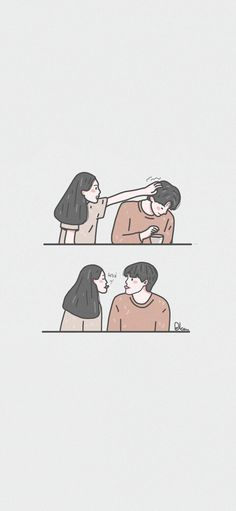 Cute Couple Drawings, Cute Couple Cartoon, Cute Couple Art, Cute Love Cartoons, Cute Drawings, Cute Couple Wallpaper, Cute Pastel Wallpaper, Kawaii Wallpaper, Cute Love Pictures
