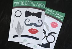 Printable Photo Booth Props - Gatsby Edition