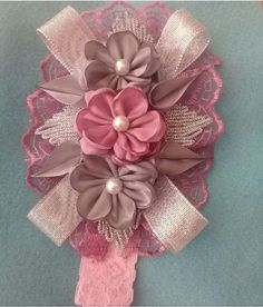 Baby Girl Bows, Baby Girl Headbands, Girls Bows, Hair Ribbons, Diy Hair Bows, Ribbon Bows, Hair Bow Tutorial, Barrettes, Ribbon Sculpture
