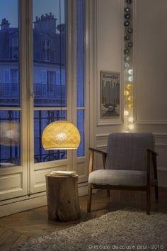 Thelonious. Cette guirlande lumineuse LED est composée avec du ivoire, moutarde, perle, anthracite et graphite. Retrouvez toutes nos suggestions sur http://www.lacasedecousinpaul.com/fr/collections/premium