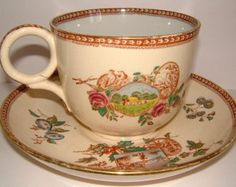 Antique 1890s J F Wileman giant cup and saucer by FieldfareVintage