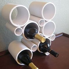DIY Project:  Modern PVC Pipe Wine Rack, My husband should be abled to make these!!