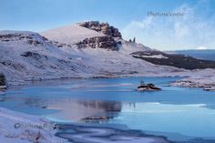 Old Man of Storr . Loch Fhada. Snow. Trotternish. Isle of Skye. Scotland.