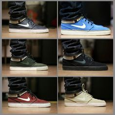 nike sneakers   6 colourways.    !I NEED ALL OF THESE!
