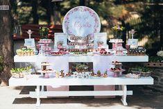 Πανέμορφη διακόσμηση κοριτσίστικης βάπτισης σε ροζ αποχρώσεις - EverAfter Baptism Decorations, Table Decorations, Baby Birthday, Dessert Table, Girly, Party Ideas, Wedding, Babies, Beautiful