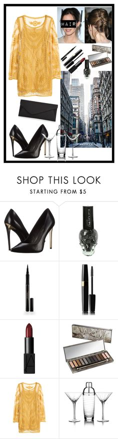 """Night Out"" by musie-della ❤ liked on Polyvore featuring Rachel Zoe, Emma Watson, Elizabeth Arden, NARS Cosmetics, Urban Decay, H&M, Mikasa, Accessorize, NightOut and satinclutch"