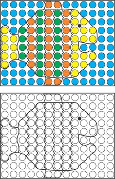 Mosaic Pattern Sample Page - Your Therapy Source Art Therapy Activities, Motor Activities, Pediatric Occupational Therapy, Do A Dot, Vision Therapy, Coding For Kids, Preschool Math, Mosaic Patterns, Kids Learning