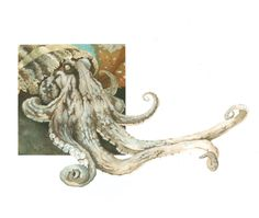 Giant pacific octopus science illustration Giant Pacific Octopus, Science Illustration, Cthulhu, Illustrations, Prints, Blanket, Illustration, Illustrators