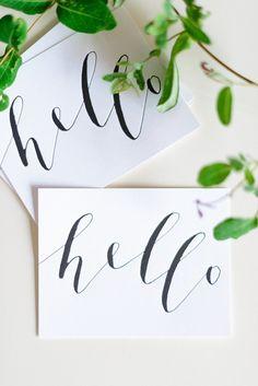hello | lettering