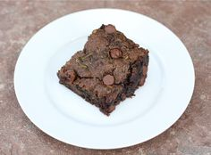 Chocolate Chip Zucchini Brownies Recipe on twopeasandtheirpod.com One of my favorite brownie recipes! #brownies
